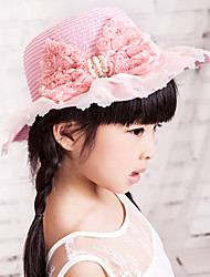 cheap -Girls' Hats & Caps,Summer Cotton Beige Blue Pink