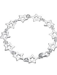 Náramky Řetězové & Ploché Náramky Měď Postříbřené Star Shape Punkový styl Přizpůsobeno Módní Bohemia Style Denní Ležérní Šperky Dárek