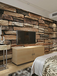 cheap -JAMMORY Large 3D Wallpaper Mural Wallpaper Seamless Simple Living Room Bedroom TV Background Wallpaper Irregular Earth Brick Background XL XXL XXXL