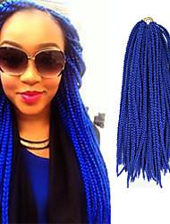 Box Braids Twist Braids Blue Hair Braids 24Inch Kanekalon 90g Synthetic Hair Extensions