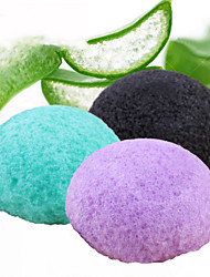 cheap -1 Pcs Hot Shot Natural Konjac Potato Konnyaku Differentiated Bi-Facial Puff Face Wash To Cleansing Sponge Hemisphere Random Colors