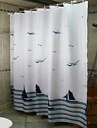 cheap -Shower Curtains Neoclassical Polyester Curve Machine Made