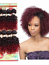 brazilian kinky curly hair 8inch virgin deep curly human hair bundles 8pieces/pack brazilian jerry curly human hair weave 1pack can make full head