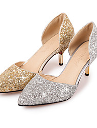 cheap -Women's Shoes Glitter Spring Summer Heels Stiletto Heel Pointed Toe Sequin for Wedding Office & Career Party & Evening Gold Silver
