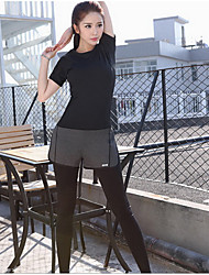 The new sports fitness running slim slim yoga clothing color cloth Korean female short sleeved shirt