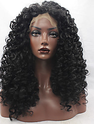 cheap -Synthetic Lace Front Wig Kinky Curly Synthetic Hair Natural Hairline Black Wig Women's Lace Front