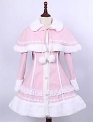 cheap -Winter Sweet Lolita Cape Coat Princess Lace Women's Coat Cosplay Long Sleeves