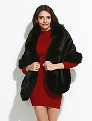 Cappotto di pelliccia Da donna Per uscire Inverno Vintage Pelliccia sintetica Rosso Bianco Nero