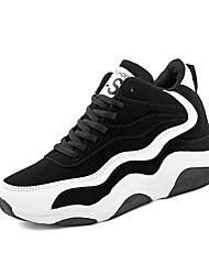 Atletické boty-Koženka-Pohodlné-Dámské-Černá a červená Černobílá-Outdoor Běžné-Plochá podrážka