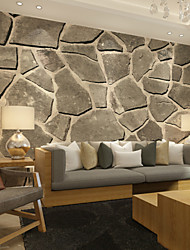JAMMORY Large 3D Wallpaper Mural Wallpaper Simple Seamless Living Room Bedroom TV Background Wallpaper Gray Irregular Stone Background Wal XL XXL XXXL
