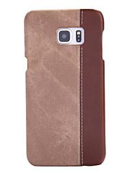 Недорогие -Кейс для Назначение SSamsung Galaxy S7 edge S7 Защита от пыли Кейс на заднюю панель Полосы / волосы Твердый ПК для S7 edge S7 S6 edge