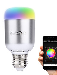 cheap -6W E26/E27 LED Smart Bulbs A60(A19) 16 leds High Power LED Bluetooth Decorative Warm White Cold White Natural White RGB 450-500lm
