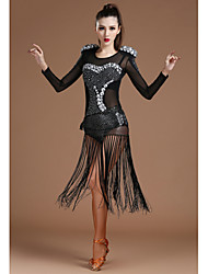 cheap -Shall We Jazz Leotards Women Spandex Tulle Crystals/Rhinestones Scarf Leotard