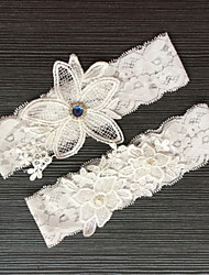Lace Wedding Garter with Rhinestone Lace Wedding AccessoriesClassic Elegant Style