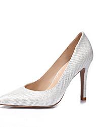 baratos -Mulheres Sapatos Gliter Courino Primavera Verão Saltos Salto Agulha Dedo Apontado Dedo Fechado para Casamento Casual Festas & Noite