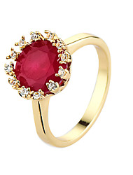 preiswerte -Damen Ring Kubikzirkonia Rot Blau Rosa Zirkon Kubikzirkonia Simple Style Party Normal Modeschmuck