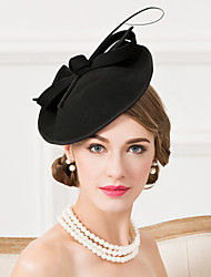 cheap -Wool Feather Fascinators Hats 1 Wedding Special Occasion Casual Headpiece