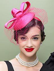 satin netto headbands birdcage slør headpiece klassisk feminin stil