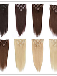 cheap -Clip In Human Hair Extensions Human Hair Straight 18 inch 20 inch 22 inch 15