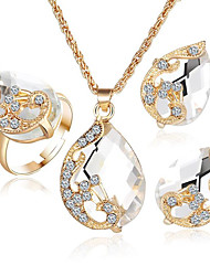 cheap -Women's Crystal Jewelry Set - Include Red / Green / Blue For Party Casual
