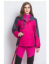 Per donna Giacche 3-in-1 Ompermeabile Tenere al caldo Antivento Fodera di vello Traspirante Tuta da ginnastica Giacche in pile / Fleece