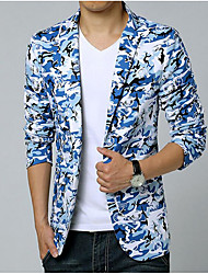 cheap -Men's Going out Casual/Daily Casual Spring Summer Blazer