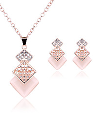 economico -Da donna Set di gioielli Opal sintetico Matrimonio Feste Pietre sintetiche Opale Lega 1 paio di orecchini Collane