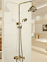 cheap -Shower Faucet - Modern Traditional Chrome Shower System Ceramic Valve