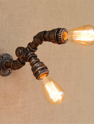 ac 220-240 80 e27 rustique / lodge fonctionnalité de peinture pour l'ampoule incluse, mur de lumière ambiante bougeoirs applique murale