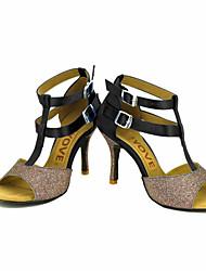 Chaussures de danse(Noir Bleu Jaune Rose Violet Rouge Blanc) -Personnalisables-Talon Personnalisé-Satin-Latines Salsa