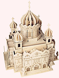 cheap -Wooden Puzzle Famous buildings Chinese Architecture House Church Cathedral Cathedral of Christ the Saviour Professional Level Wooden 1pcs