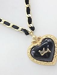 Dámské Náhrdelníky s přívěšky Prohlášení Náhrdelníky Heart Shape Slitina láska Srdce Šperky Pro Denní Ležérní