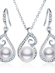abordables -Mujer Perla artificial Conjunto de joyas - Incluir Plata Para Fiesta / Casual