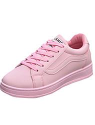 Atletické boty-PU-Pohodlné-Dámské-Černá Růžová Bílá-Běžné-Plochá podrážka