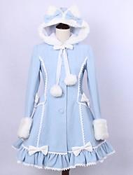 Manteau Gothique Lolita Classique/Traditionnelle Rétro Elégant Victorien Rococo Princesse Cosplay Vêtrements Lolita Couleur PleineManches