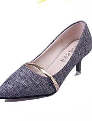 Women's Heels Slouch boots Comfort Fabric Spring Summer Fall Casual Office & Career Walking Slouch boots Comfort Stiletto HeelDark Grey