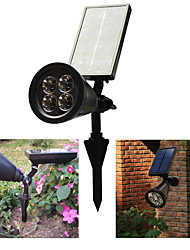 cheap -4LED Lawn Light Home Solar Spotlight Plug Garden Wall Garden Light Outdoor Night Light