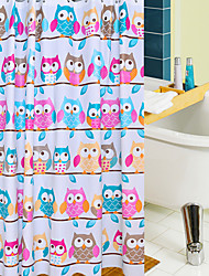 cheap -Shower Curtains Neoclassical PEVA Animal Machine Made