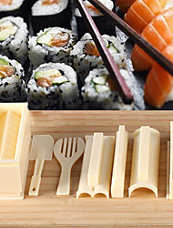 cheap -Kitchen Tools Plastic Sushi Tool Cooking Utensils 1set