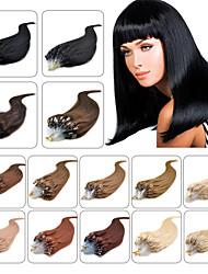 микро петля кольца волосы расширения оптовый 100% бразильский фьюжн кератин человеческих волос 16-24inch