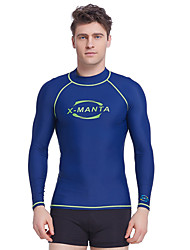 Dive&Sail Men's 1mm Dive Skins Wetsuit Top Diving Rash GuardWaterproof Thermal / Warm Quick Dry Ultraviolet Resistant Anti-Eradiation