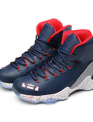cheap -Basketball Shoes Men's Athletic Shoes Spring Fall PU Casual Flat Heel Lace-up Red/black Black/Silver Red Royal Blue Blue+Pink