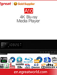 "Egreat a10 4k bluray-Media-Player mit eingebauten 3,5 ""HDD Tray hdr / hdr10 Dolby Atmos & dts: x 11.2ch Rohausgangssignal"