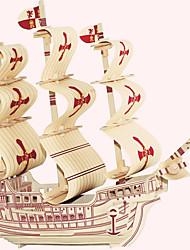 Деревянные пазлы Игрушки Знаменитое здание Китайская архитектура Корабль Лошадь профессиональный уровень Мальчики Девочки 1 Куски