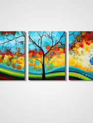 cheap -Unframed Abstract Tree Painting Sunrise Canvas Print Art Abstract Landscape Painting  for  Wall Decoration 30x40cmx3pcs