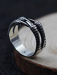 Ringe Ikke-sten Daglig Afslappet Smykker Sølv Dame Herre Ring 1 Stk.,En størrelse Sølv