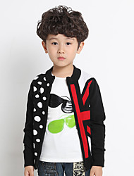 Boy's Cotton Fashion Spring/Fall/Winter Going out/Daily Dot Warm Long Sleeve Sweater Stand Collar Children Knitting Cardigan Jacket Coat