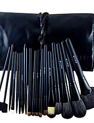 18 Makeup Brush Set Horse Portable Professional Full Coverage Horse Hair Wood