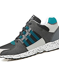 cheap -Men's Athletic Shoes Fall / Winter Comfort PU Athletic Flat Heel Lace-up Black / Blue / Gray / Orange Sneaker