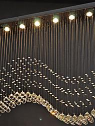 Недорогие -6-Light Кристаллы Подвесные лампы Потолочный светильник Электропокрытие Металл Хрусталь, LED 110-120Вольт / 220-240Вольт Теплый белый / Холодный белый Лампочки включены / GU10